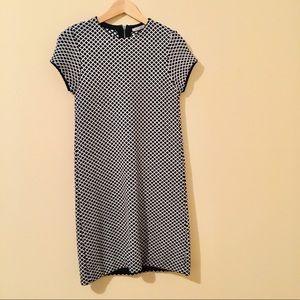 Zara | Knit Geometric Jacquard Shift Dress